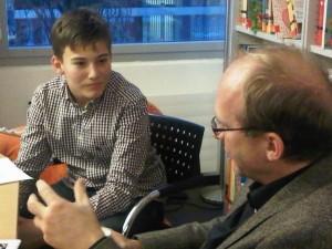 Ein Einblick in das Interview mit Herrn Nützel (© cbj-Presse)