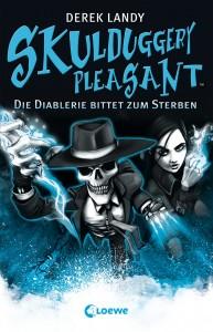 """Cover von """"Skulduggery Pleasant: Die Diablerie bittet zum sterben"""" von Derek Landy"""
