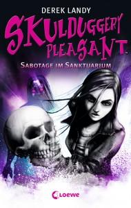 """Cover zu """"Skulduggery Pleasant 4: Sabotage im Sanktuarium"""" von Derek Landy"""